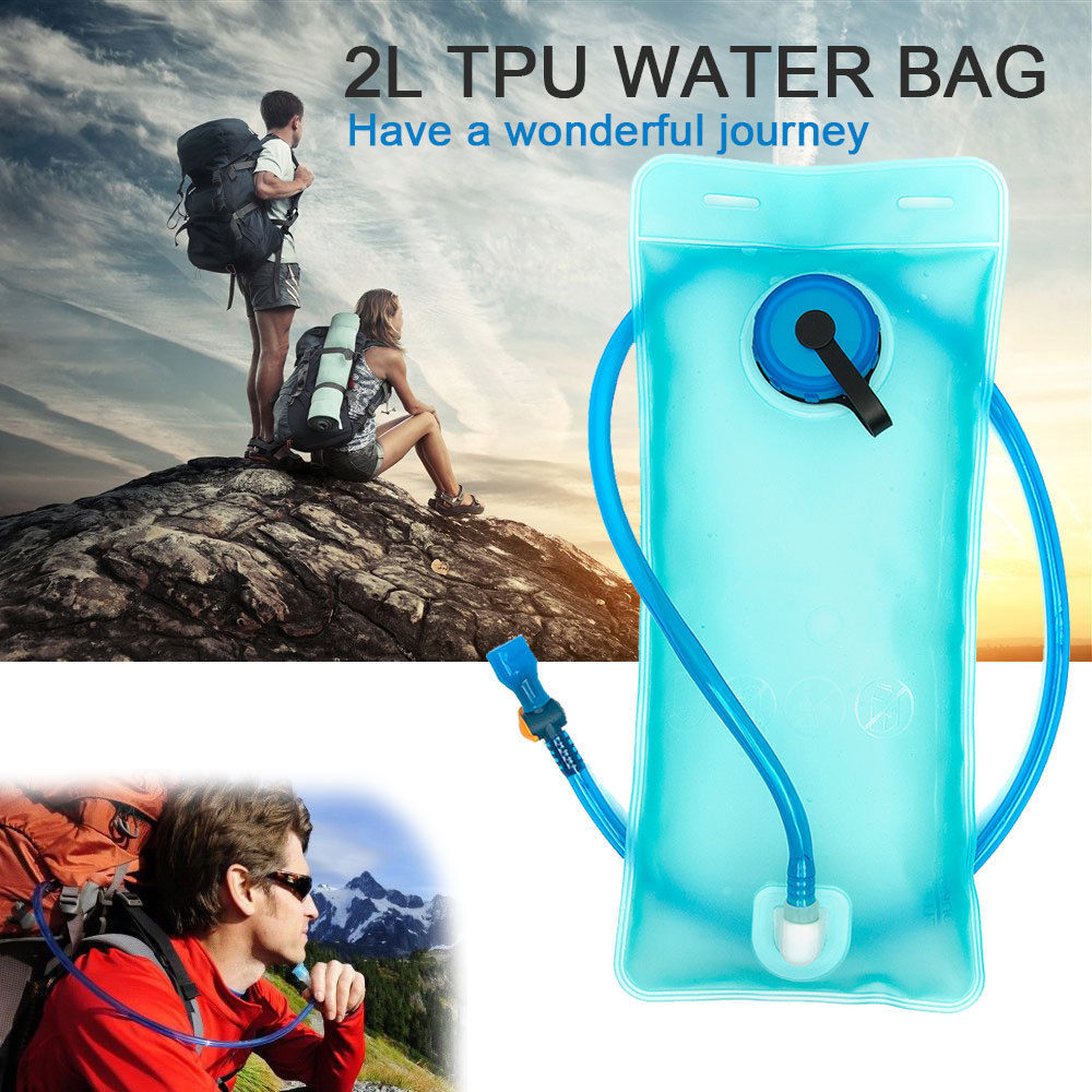 2L Large Capacity Portable Water Bag Outdoor Sports Traveling EVA Water Bladder