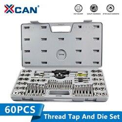 XCAN 60 szt. Zestaw gwintownik ręczny klucz trzpieniowy wiertło do gwintowania Bit narzędzia do gwintowania metryczny zestaw gwintowników
