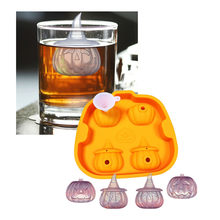 Halloween Ice Cube Silicone Molds Bar Cool 3D Chocolate Sugar Candy Jelly Moulds Cupcake Party Fondant Cake Decorating Tools New