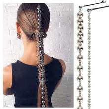 Joyería profesional para el cabello para mujer, cadenas largas geométricas de aleación, accesorios para fiesta, boda, cabello