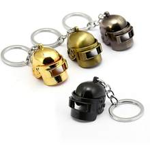 Game Playerunknown's Battlegrounds Keychain Special-Forces Level 3 Adjustable Helmet 3D Pendant PUBG Keyring Souvenir