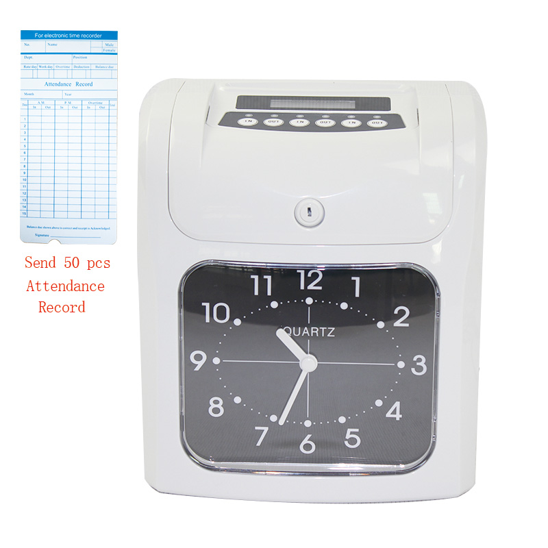 W-S1 Digital Time Recorder Attendance Punch Card time Clock Office Staffs Check in Punching Machine