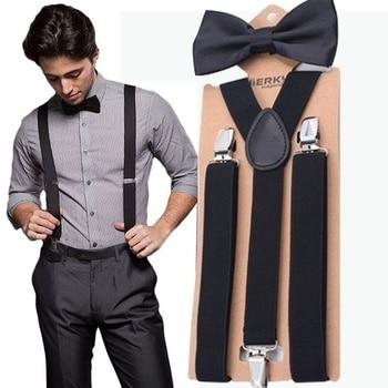 Men's Adjustable Bow-Tie Suspenders