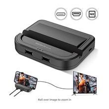 Mobile Game Controller Wired Gaming Converter Adapter 4K 60Fps Display USB C Wired PUBG Mobile Gaming Keyboard Mouse Converter
