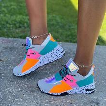 Женские кроссовки на шнуровке Разноцветные Повседневные большого