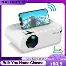 Salange P62 Mini projektor do filmów na zewnątrz, obsługa kina domowego 1080P Full HD projektor 2800 lumenów Proyector Video Beamer