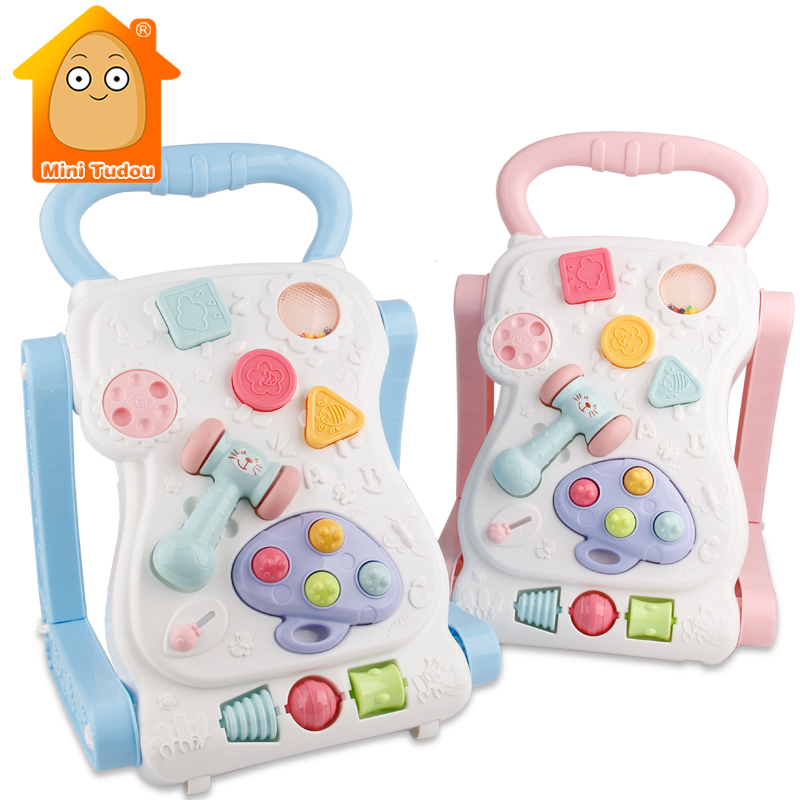 13-24 Months Baby Activity Center Baby Walker With Wheel Educational Toys Multifunctional Table With Cube Hammer Kids Toys