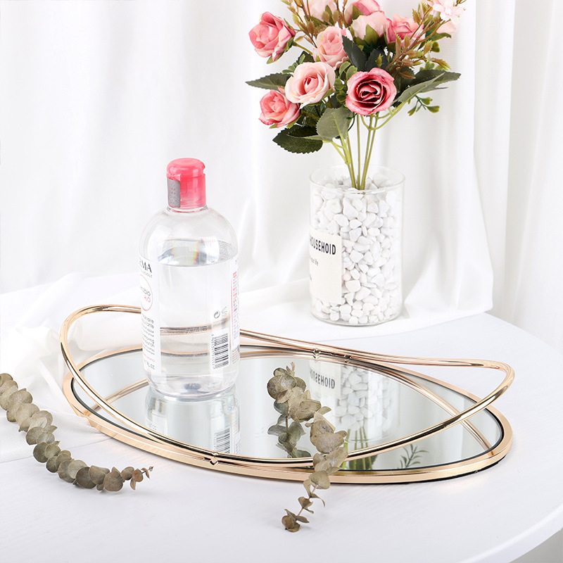 Storage-Tray Jewelry Cosmetics Living-Room Hotel Fruit-Plate Display Iron Retro For Bar