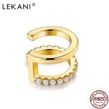 Lekani клипса геометрической формы серьги для женщин 925 серебро