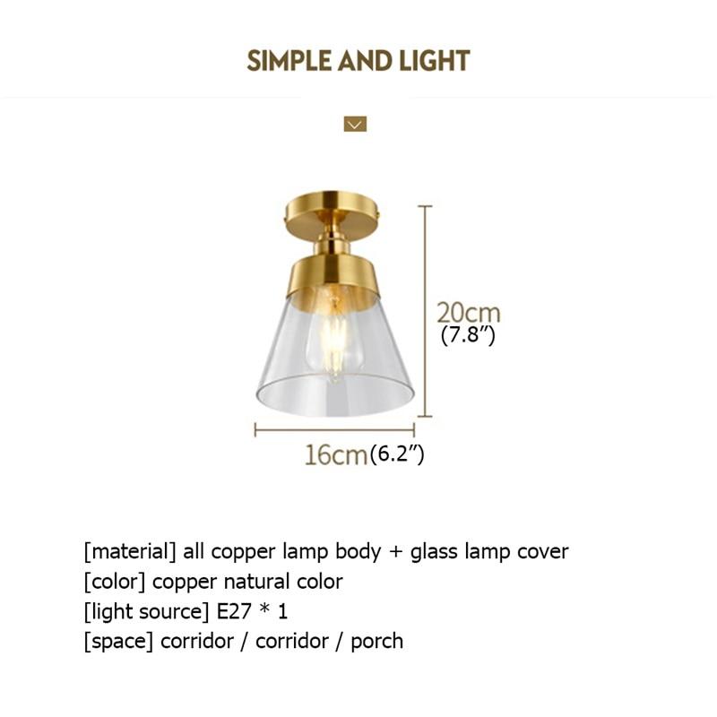 Luzes de teto de cobre de 8m,