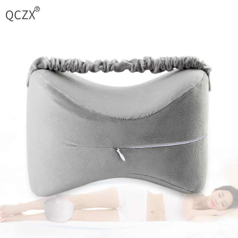 QCZX Knee Pillow Memory Foam  Back Pain, Leg Pregnancy, Hip and Joint Pain D40