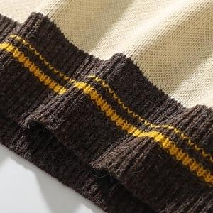 Image 5 - 2020 גברים היפ הופ סוודר סוודרים Streetwear ואן גוך ציור רקמה סרוג סוודר רטרו בציר סתיו סוודרים כותנה