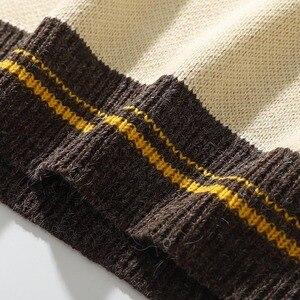 Image 5 - 2020 mężczyzn Hip Hop sweter sweter Streetwear obraz Van gogha haft sweter z dzianiny Retro Vintage jesień swetry bawełniane