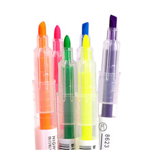 Double-Head Pen Marker-Pens Highlighter School-Stationery Discolor Drawing Students