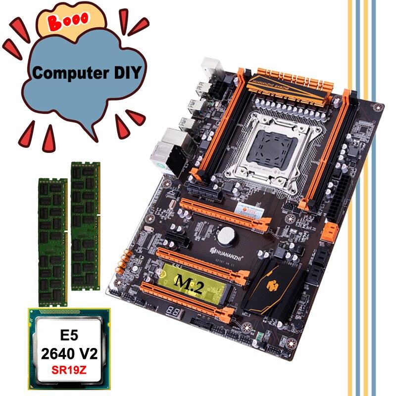 WUSON PC hardware DIY HUANANZHI deluxe X79 motherboard Intel Xeon E5 2640 V2 SR19Z 2.0GHz RAM 16G(2*8G) DDR3 1600MHz REG ECC 1