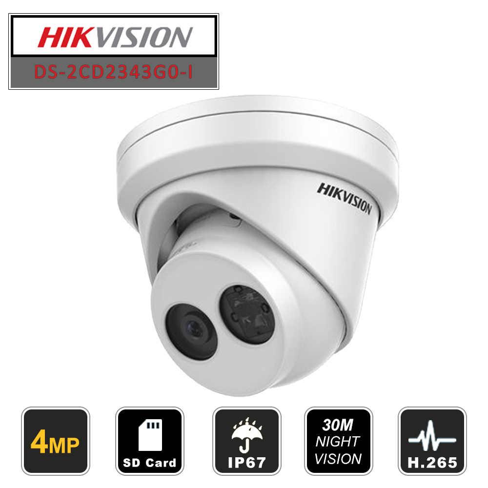 هيكفيجن برج 4MP IP كاميرا H265 SD فتحة للبطاقات DS-2CD2343G0-I داخلي/خارجي استبدال DS-2CD2342WD-I مع