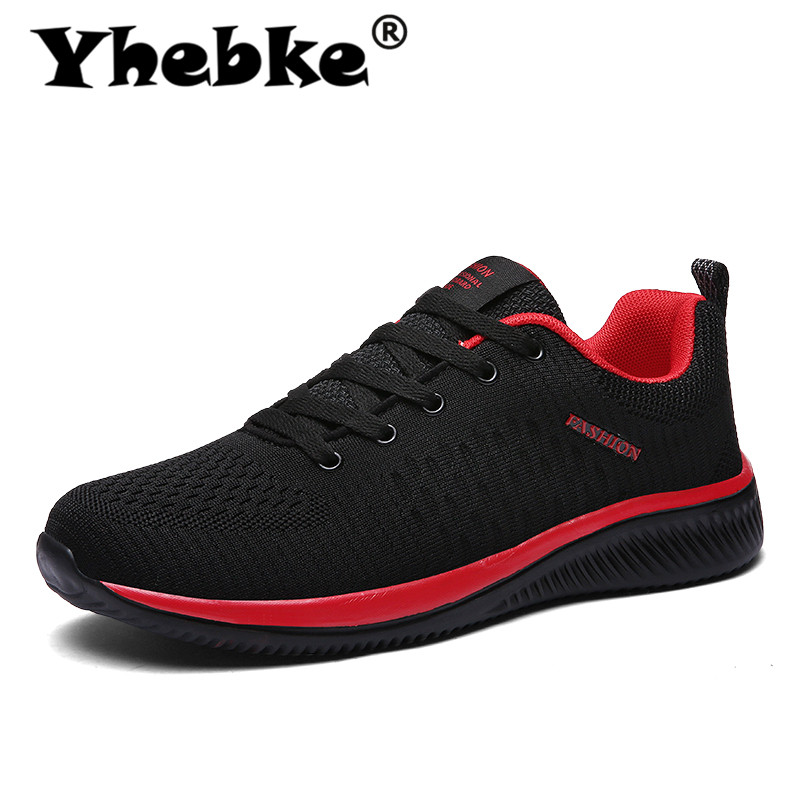 Yhebke Spring Men Shoes Sneakers Casual Breathable Air Mesh Shoes Zapatillas Hombre Deportiva Sapato Masculino Adulto Big Size