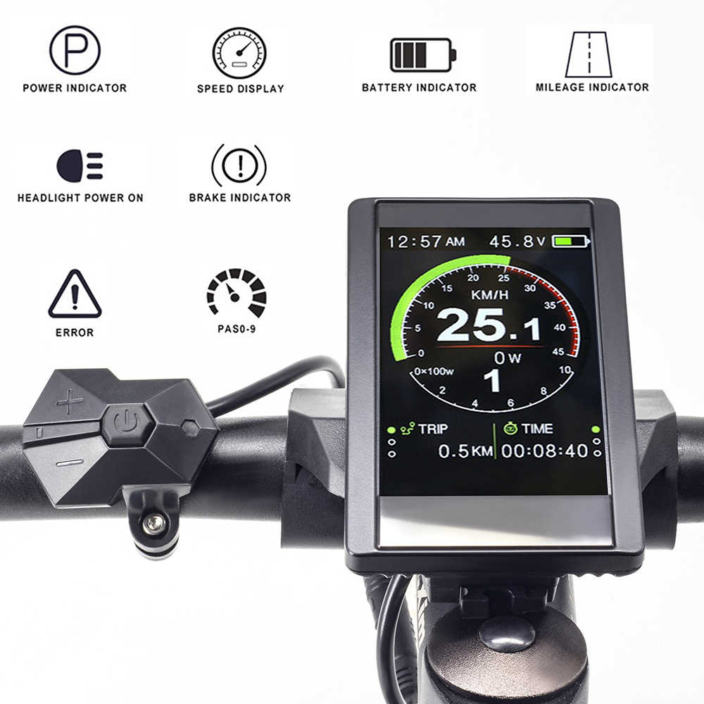 E-Bike Display LCD 850c freie Geschwindigk Prophete Graveler Bafang Rex Fischer