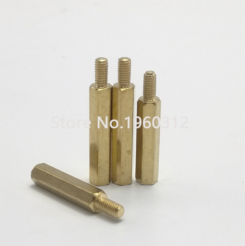 5-20Pcs M3/*L Female to Female Hex Head Brass Spacing Screws Threaded Pillar PCB Computer PC Motherboard StandOff Spacer