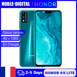 Глобальная версия Honor 9X Lite 4G 128G мобильный телефон 48MP двойной Камера Kirin 710 смартфон 6,5 дюймов Full View Дисплей 3750 мА-ч