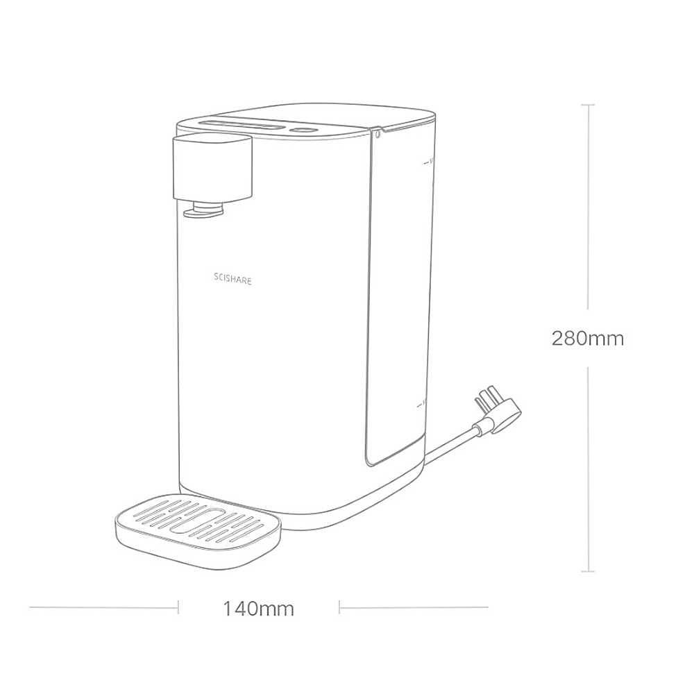 Youpin SCISHARE Heißer Wasser Dispenser Warme Instant Wasser Dispenser 4-getriebe Temperatur LED Licht 3L 2200W 220V