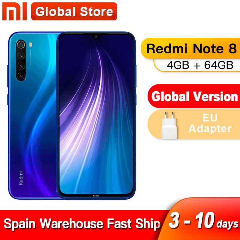 Международная глобальная версия смартфона Xiaomi Redmi Note 8, 4 Гб 64 ГБ, Восьмиядерный процессор Snapdragon 665, 6,3 дюйма, 4 камеры 48 МП|Смартфоны и мобильные телефоны|   | АлиЭкспресс