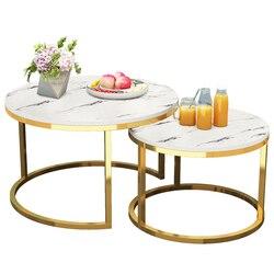 Современный простой маленький круглый прикроватный столик для дома, гостиной, балкона, кованого железа, компактный кофейный столик