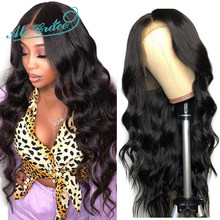 Ali Grace Lace Front Wigs Pre-Plucked Natural Hairline With Baby Hair Remy Lace Wigs Brazilian Body Wave Human Hair Wigs(China)