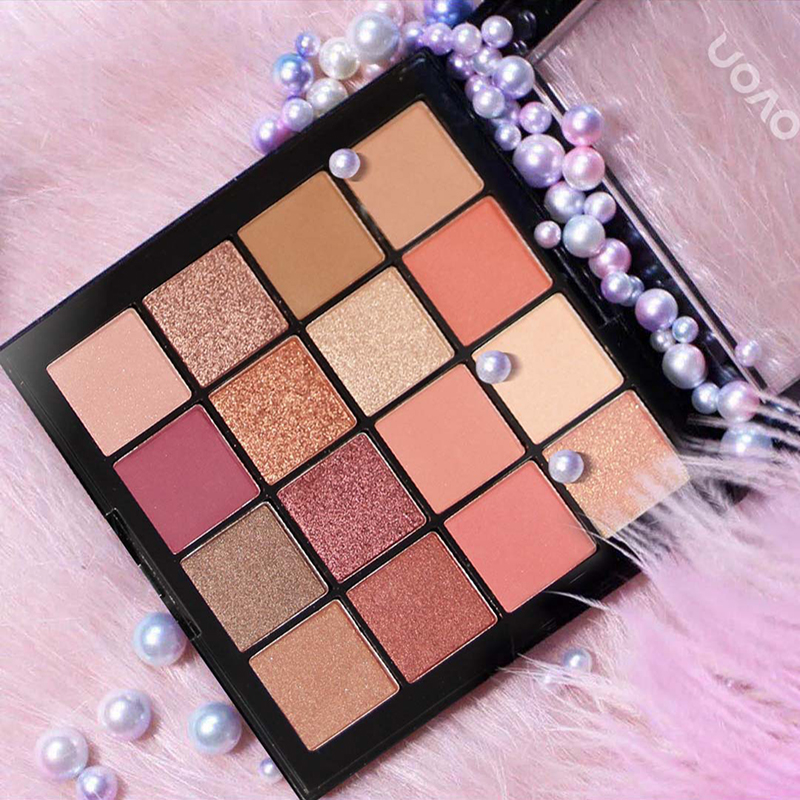 NOVO 16 Colors Matte Shimmer Glitter Eyeshadow Palette Smoky Nude Eyes Makeup Eye Shadow Powder Earth Color Beauty Cosmetics