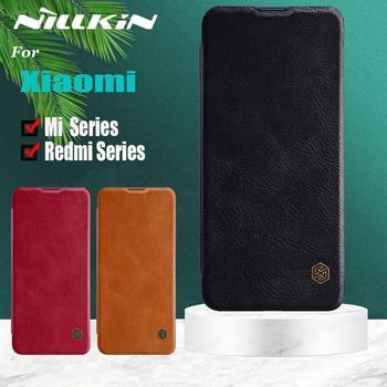 Nillkin for Xiaomi POCO X3 NFC Mi Note 10 Lite 9 9T A3 Case Soft Genuine Leather Flip Case on Redmi Note 9s 9 8 8T Pro K30 K20