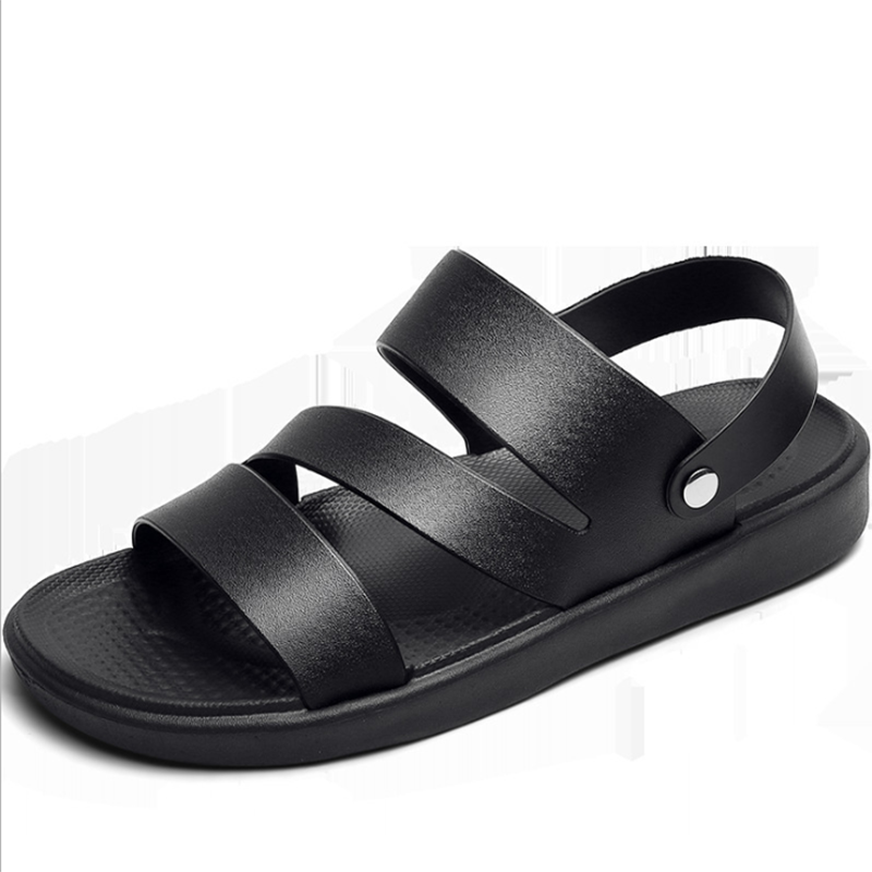 Купить 2020 модные повседневные мужские сандалии кожаные классические