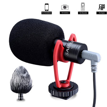 SAIREN VM-Q1 Shotgun Video Microphone On-Camera Mini Condenser Record Interview Vlog Mic for Phone DSLR Osmo Pocket Mobile condenser interview microphone dslr shotgun mic for digital camera canon nikon sony pentax panasonic olympus samsung casio