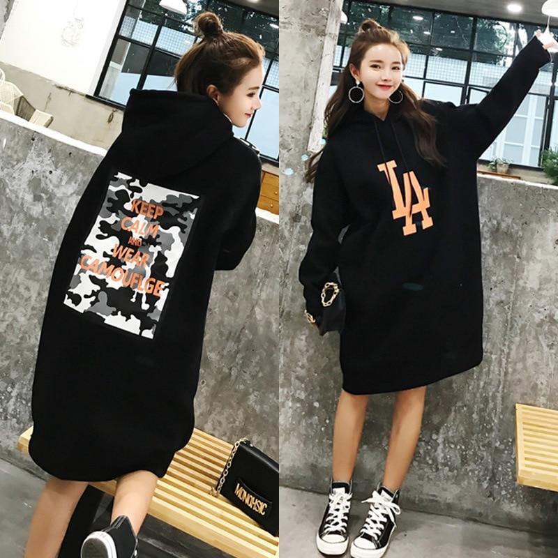 Oversized Hoodie Women Hoodies Sweatshirt Long Pattern Top Casual Loose Korean Style Jumper Student Boyfriend Style Big Size 3XL
