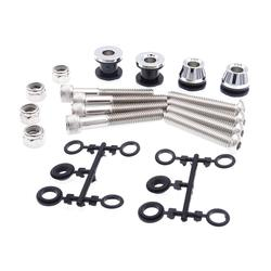 Chrome Sissy Bar Docking Hardware Kit For Harley Softail Models 1984-1999(Come With Instruction)