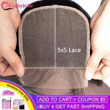 Gabrielle 5x5 кружева закрытие бразильские прямые волосы /средний/три части Волосы remy застежка с волосами младенца человеческие волосы 8-22 дюйма