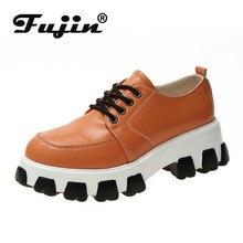 Fujin Women Sneakers 2019  PU Leather Tenis Feminino Platform Fashion Shoes Chic Designer