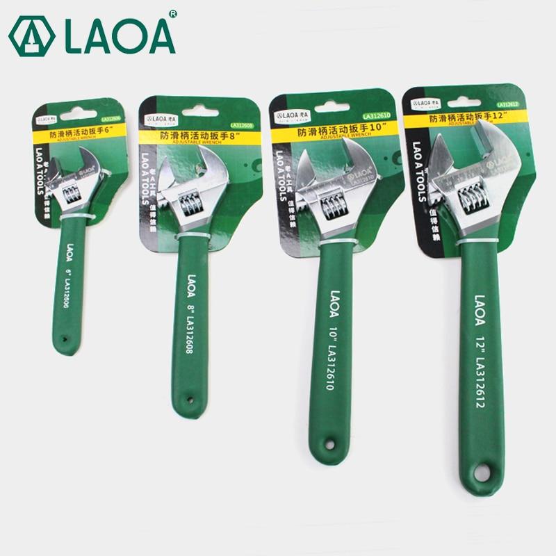 """LAOA állítható csavarkulcs 6 """"8"""" 10 """"12"""" váltó csavarkulcs Csúszásmentes fogantyú Csavarkulcs javító eszközök"""