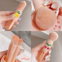 4 unids/set pinceles de maquillaje verde rosa pinceles/brochas Fundación y en polvo y Blush brochas para maquillaje de fibra herramientas de maquillaje cara labio cepillos de ojo