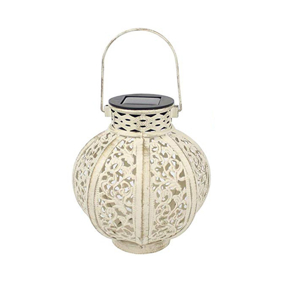 Solar Lantern European Portable Creative Hollow Winter Melon Pumpkin Solar Lantern Festival Holiday Home Garden Tree Decoration