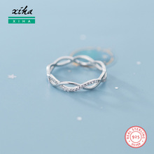 925-Sterling-Silver Rings Knuckle Infinity-Ring Girls Thin Cubic-Zirconia Women Pinky