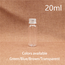 20ml Plastic Water Bottle Small Blue Brown Green Cosmetic Makeup Essential Oil Perfume Travel Packaging Containers Free Shipping 10ml plastic spray bottle refillable small cosmetic makeup perfume water sprayer containers blue brown green free shipping