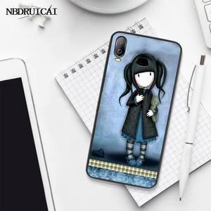 PENGHUWAN мультфильм прекрасный Santoro Gorjuss черный мягкий чехол для телефона из ТПУ чехол для Samsung A10 A20 A30 A40 A50 A70 A71 A51 A6 A8 2018
