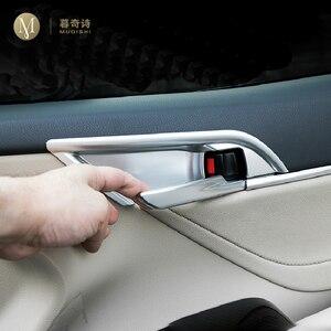 Para Toyota Camry 2018 2019 2020 Automotive interior reajuste puerta bowl decoración pegatinas accesorios lentejuelas decoración protectora