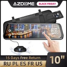 "AZDOME PG02 Nachtsicht Auto Dvr Kamera Rück 10 ""Streaming Media Spiegel Video Recorder Camcorder Dash Cam FHD 1080P dual len"