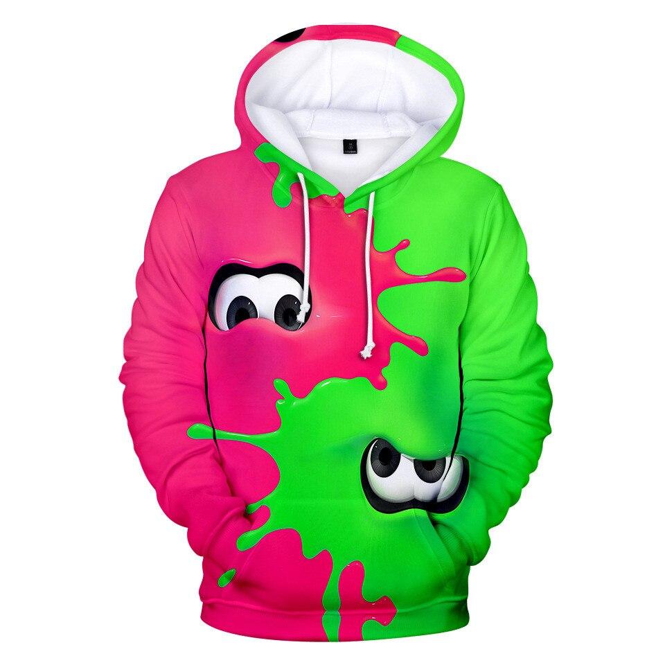 Hot Sale Shooting Game Splatoon 3D Printed Hoodies Men Women  Long Sleeve Hoodie Sweatshirt Fashion Harajuku Jacket Clothes Tops