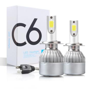 C6 H1 H3 żarówki Led do reflektorów H7 światła samochodowe LED H4 880 H11 HB3 9005 HB4 9006 H13 6000K 72W 12V 7200LM samochodowe reflektory przednie tanie i dobre opinie DSZTPAO Universal 12 v 6000 k 72W Pair C6 LED Headlight 7200LM Pair IP68 Car LED Headlight H1 H3 H7 H8 H9 H11 9005 9006