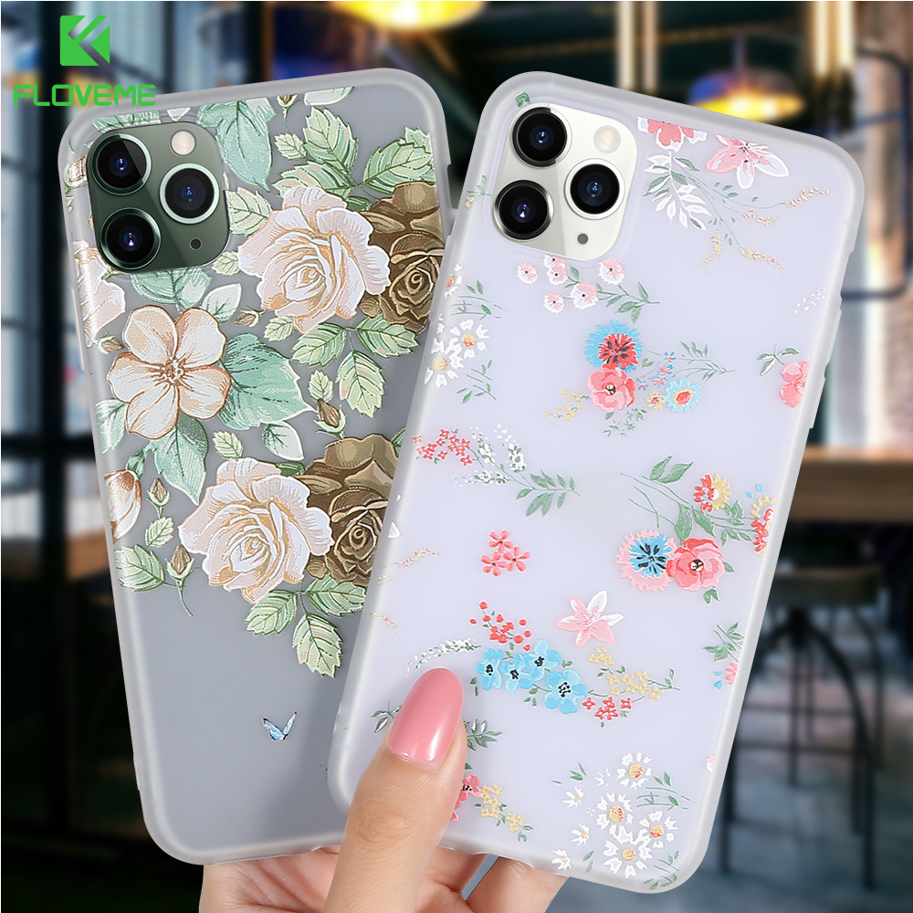 FLOVEME Soft <font><b>Silicone</b></font> <font><b>Case</b></font> For <font><b>iPhone</b></font> 11 Cover For <font><b>iPhone</b></font> 7 8 6 6s Plus Shockproof Coque For <font><b>iPhone</b></font> <font><b>X</b></font> XR <font><b>XS</b></font> Max 11 Pro Max Funda image