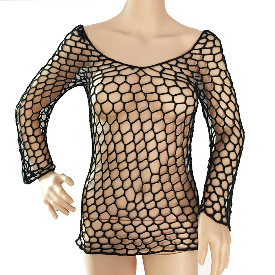 Sexy Mesh Crochet Fishnet Beach Tunic - Bikini Cover Up  8