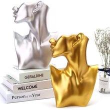 Statue en résine, Sculpture de personnage, décoration de la maison, support de bijoux, boucles d'oreilles, collier, présentoir, décoration de salle, artisanat de montage