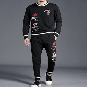 Image 1 - winter Fitness Tracksuit Hoodies Sets Casual Mens Clothing 2 pcs